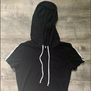 Charlotte Russe hooded t-shirt